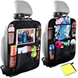 Car Organisers,Car Back Seat Organiser for kids,Car Seatback Protector with 10inch Tablet Holder,Backseat Kick Mats Cover wit