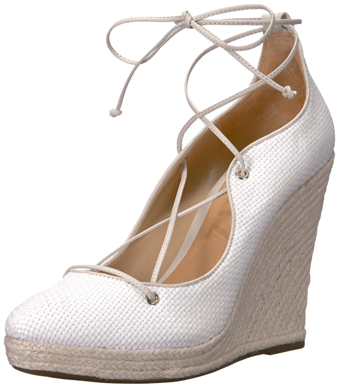 SCHUTZ Women's Lunna Espadrille Wedge Sandal B01M9EWGOC 7 B(M) US|Branco/Pearl