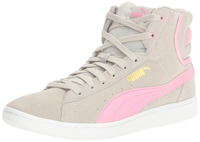 PUMA Women's Vikky Mid Fashion Sneaker B01LPWRDG0 8.5 M US|Gray Violet-prism Pink