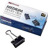 Officemate Medium Binder Clips, Black, (99050), 12 each, pack of 12