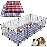 Blaoicni 2 Pack Guinea Pig Bedding Guinea Pig Cage Liners Washable Pee Pads with Fast Absorbent Waterproof Reusable Non-Slip