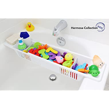 Hermosa Collection Kids Bath Toy Organizer and Bathtub Storage Basket