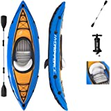 Bestway Hydro-Force Cove Champion Inflatable Kayak Set | Includes Double-Sided Paddle, Extra Storage, Grab Rope, Hand Pump |