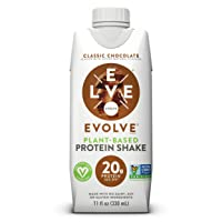 Evolve Protein Shake, Classic Chocolate, 20g Protein, 11 Fl Oz, Pack of 12