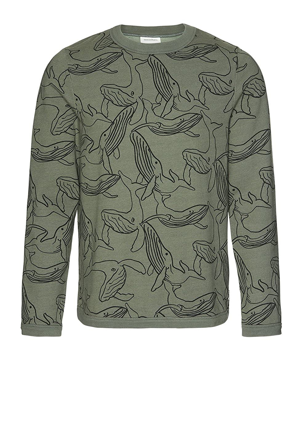 Armedangels Herren Sweatshirt aus Bio-Baumwolle - Dorian Whales - GOTS, Organic, CERES-08