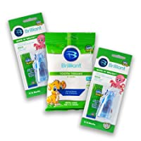 Baby Buddy Wipe-N-Brush & 30 Wipes Stage 3 for Babies/Toddlers, Kids Love Them, Blue, 2 Count