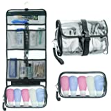 Hanging Toiletry Bag TSA Approved Clear Toiletry Bag for Women and Men 2 in 1 Removable TSA Liquids Travel Bag Waterproof Car