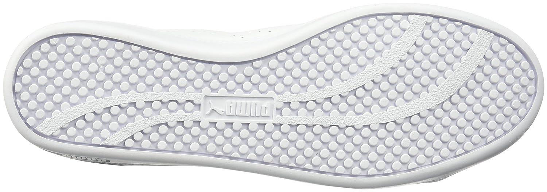 PUMA Woherren Smash WNS v2 Leather Leather Leather Perf Turnschuhe Weiß Weiß 9 M US 52c5e3