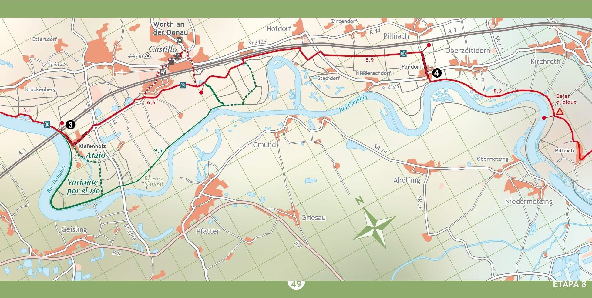 El Danubio en bicicleta: de Donauechingen a Viena: 22 Bici:map ...