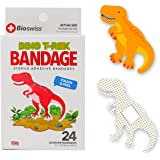 BioSwiss Novelty Bandages Self-Adhesive Funny First Aid, Novelty Gag Gift 24pcs (Dino)