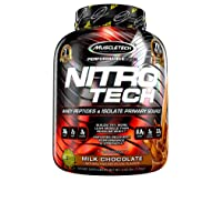 MuscleTech NitroTech Protein Powder Plus Muscle Builder, 100% Whey Protein with...