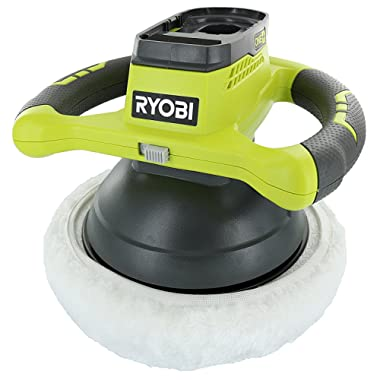 Ryobi P435 One+ 18V Lithium Ion 10  2500 RPM Cordless Orbital Buffer/Polisher with 2 Bonnets (Battery Not Included, Power Tool Only)
