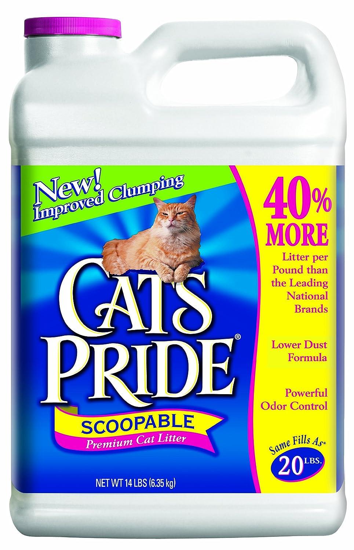 Oil Dri C01934-G40 Cat's Pride Scoopable Cat Litter-14LB SCOOPABLE LITTER