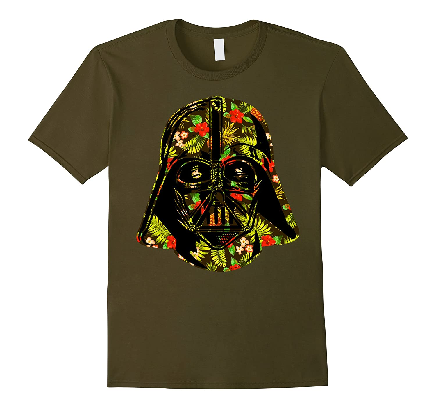 Star wars hawaiian print darth vader helmet graphic t for Hawaiian graphic t shirts