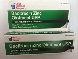 Bacitracin Zinc First Aid Antibiotic Ointment 1 Oz