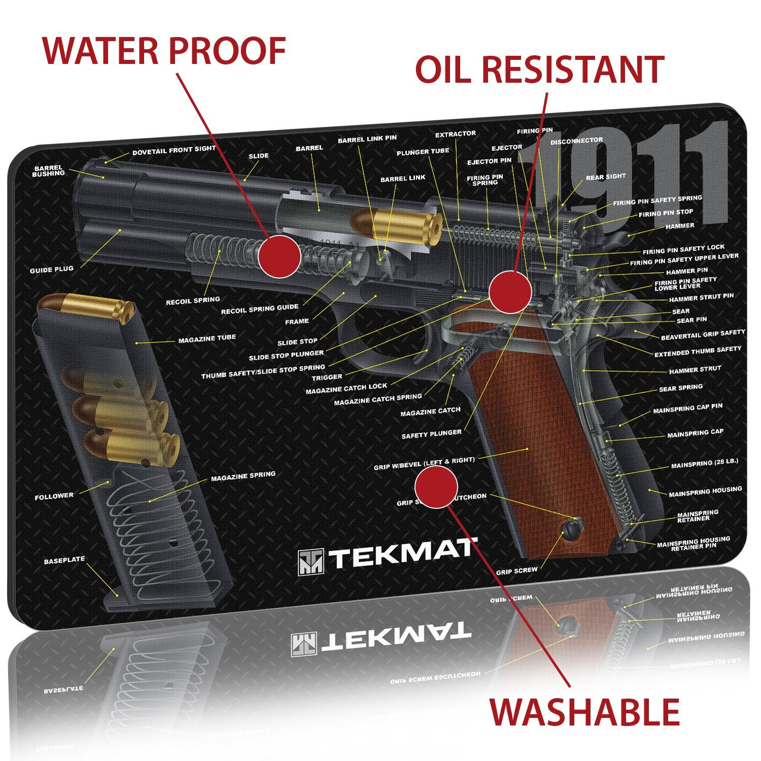 1911 Cutaway Diagram Pistol Also With Colt Exploded Parts Tekmat Cleaning Mat Thick Durable Waterproof Handgun Design And Instructions