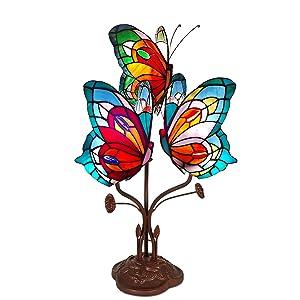 World Art Lampade Stile Tiffany, Multicolore, 53x35x27 Cm