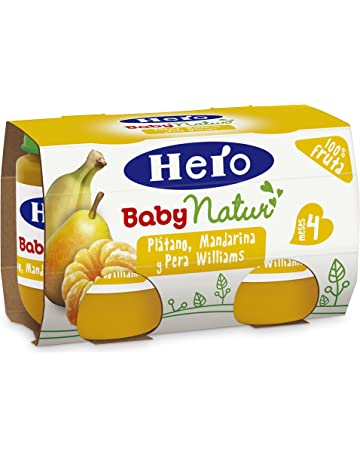 Hero Baby Platano Mandarina Pera Williams, 4 Meses - Pack de 2 x 120 g