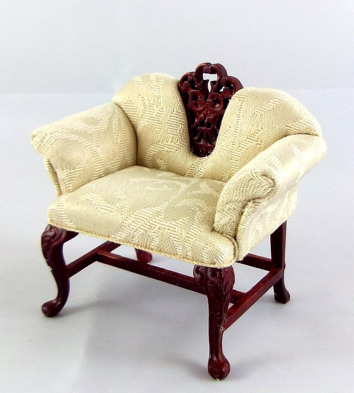 Puppenhaus Feine Miniatur Möbel Severin Verehrer Mahagoni Sessel Sessel