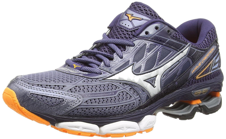 Mizuno Wave Creation 19, Zapatillas de Running para Hombre 46 EU|Gris (Folkstonegray/Silver/Eclipse 01)