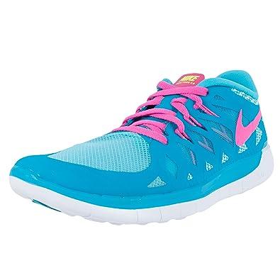 903b7b703c43 ... low price nike free 5.0 gs girls running shoes blue lagoon pink pow  white 644446 401