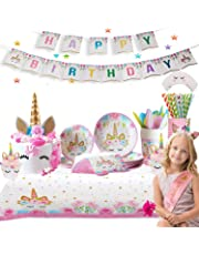 Ultimate Unicorn Plates and Supplies for Birthday Party | Best Value 165 Decorations Item Set That Give Everything You Need To Make a Long Lasting Magical Memorable Parties For Your Little Princess