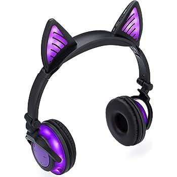 Amazon.com: SoundBeast Bluetooth Cat Ear Headphones with