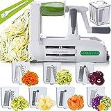 Spiralizer 7-Blade Vegetable Slicer, Strongest-and-Heaviest Spiral Slicer, Best Veggie Pasta Spaghetti Maker for Keto/Paleo/G