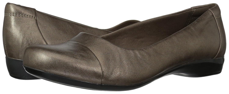 Clarks Damens's Kinzie Leder,6.5 Time Flat,Pewter Leder,6.5 Kinzie M US 2b4584