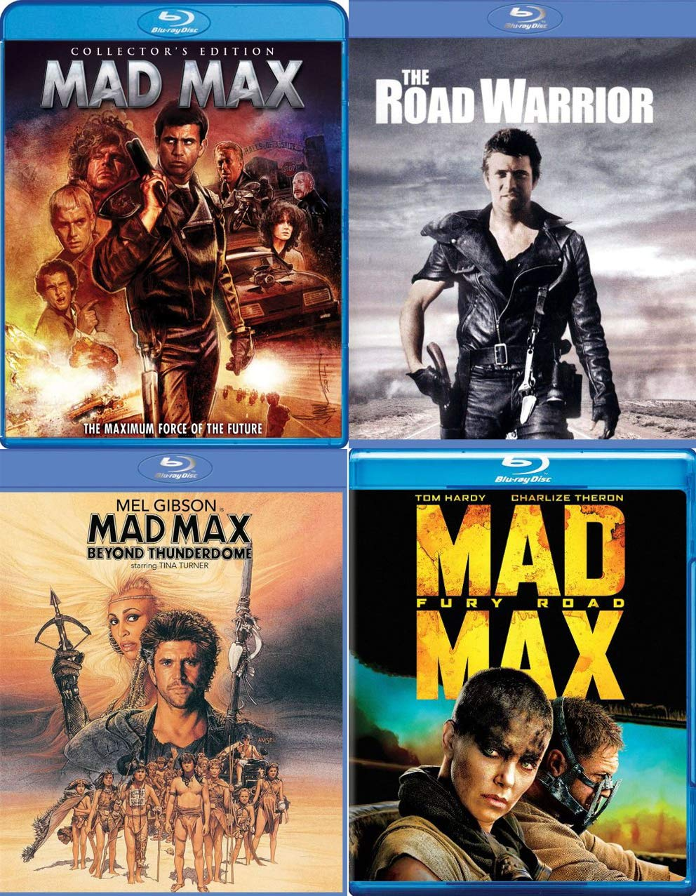 Amazon.com: The Maddest Of Max's The Complete Collection: Mad Max  (Collector's Edition Blu-Ray) + The Road Warrior (Blu-Ray) + Mad Max Beyond  Thunderdome (Blu-Ray) + Mad Max Fury Road (Blu-Ray) 4 MOVIE