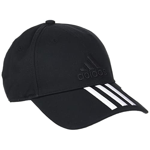 d3f1d65f5dc6ae adidas Men's Six-Panel Classic 3-Stripes Cap, Black/White, One