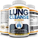 Lung Cleanse and Detox - Helps Quit Smoking - Supports Respiratory Health - Potent Lung Support Supplement - Pollution, Aller