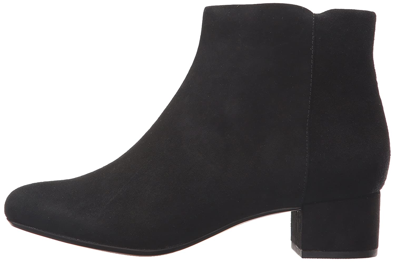 CLARKS Women's Chartli Lilac Ankle Bootie B01N9MGVJD 6 W US|Black Suede