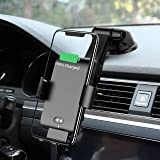 Wireless Car Charger Automatic Clamping MANKIW 10W Qi Fast Charging Car Charger Mount Compatible with iPhone 11/11pro/11pro M