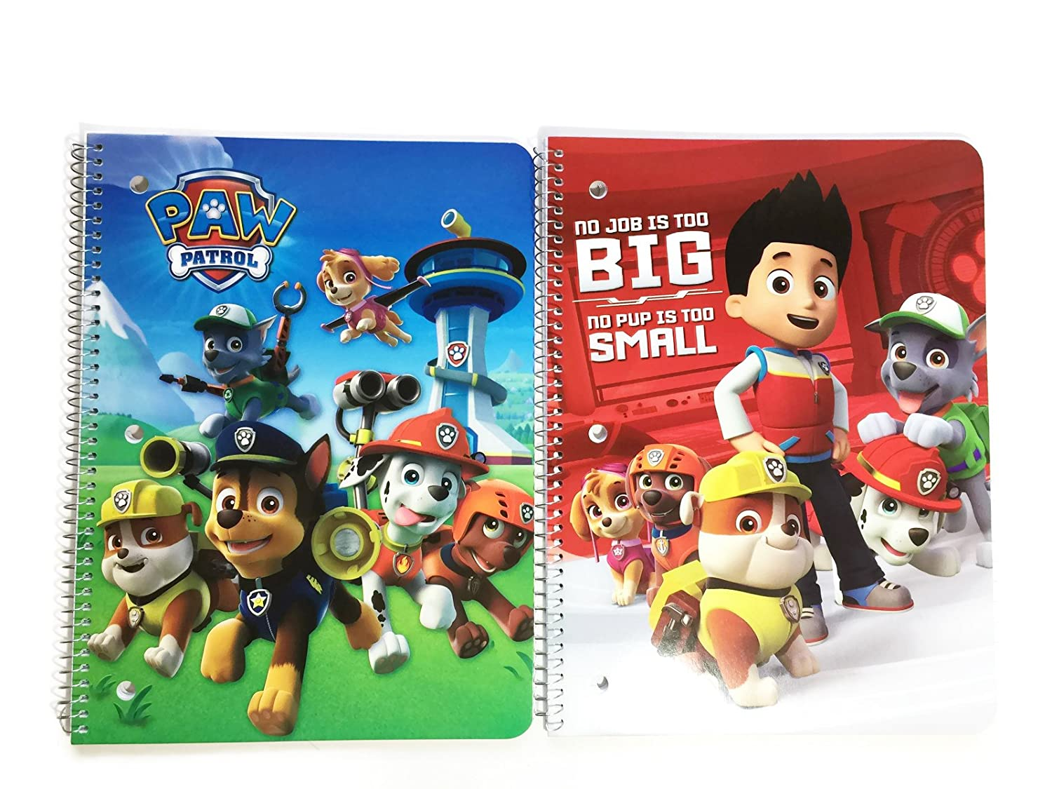 Nickelodeon Paw Patrol Ready for School Notebooks Bundle  2 Items of Spiral Notebook For Kids by Nickelodeon