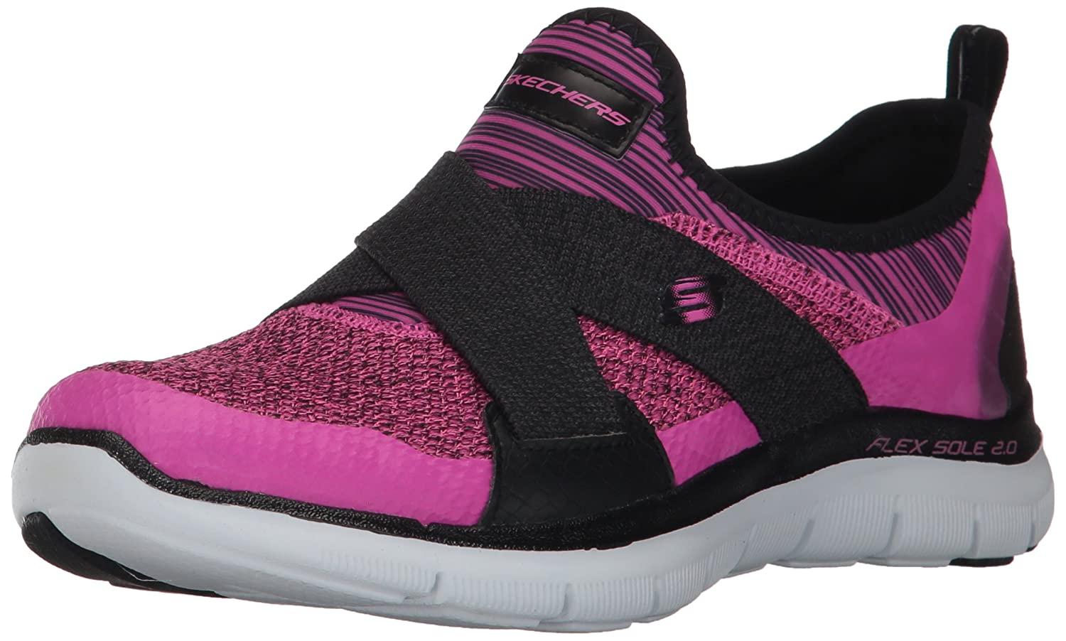Skechers Women's Flex Appeal New Image Sneaker B01ITQ3C74 9.5 B(M) US|Hot Pink/Black