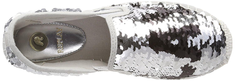 Replay Damen Damen Damen Ellye Espadrilles Mehrfarbig (Silver schwarz) 1e7c74