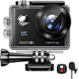 VanTop Moment 4U 4K Action Camera 20MP Underwater Waterproof Camera with EIS, External Microphone, Touch Screen, Slow Motion,