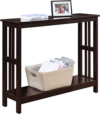 Charmant Convenience Concepts 203399ES Mission Console Table, Espresso