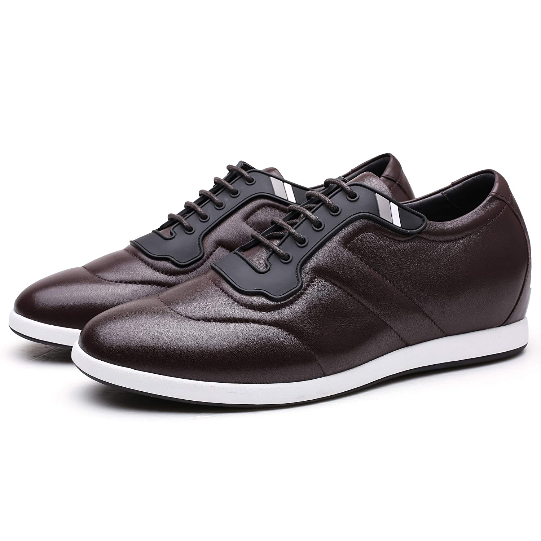 Faretti Erhöhende Schuhe für Männer Herren Schuhe Dunkler des Burgunder Schnürsenkel Steigerung des Dunkler Wachstums um  +6 cm Modell  Filippo Leder 9d13c6