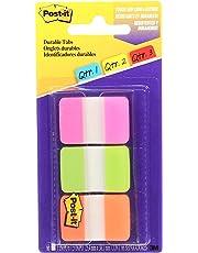 "Post-it Tabs File Folder Tabs, 1"" x 1.5"", 66 Tabs with Dispenser, Pink, Green, Orange"