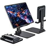 Anozer Tablet Stand Foldable & Adjustable, [2021 Updated] Compact Desktop iPad Tablet Stands Holder Cradle Dock Fits for iPad