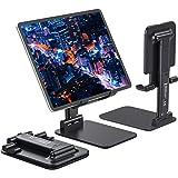 Anozer Soporte de Tableta Plegable de ángulo de Escritorio, Soporte teléfono Ajustable con Superficie Antideslizante y de Ale