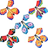 15 Pieces Magic Fairy Flying Butterfly Rubber Band Powered Wind up Butterfly Toy for Surprise Gift or Party Playing (Classic