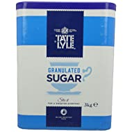 Tate and Lyle Fairtrade Granulated Pure Cane Sugar Drum with Handle 3 kg