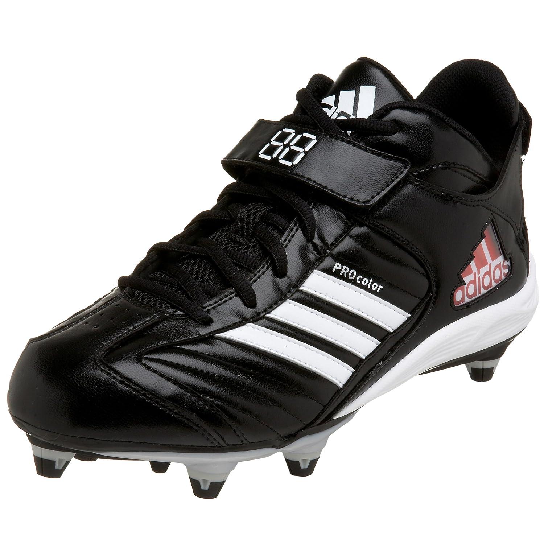 noir blanc argent 43 1 3 EU adidas Pro Couleur 2 D Mid Football Taquet, Noir Blanc Argent, 7,5 M