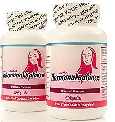 Balance Hormonal. Suplemento Natural para balancear las hormonas femeninas. Set DE 2 frascos con