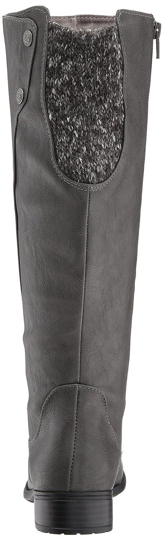 LifeStride Women's Xripley Riding Boot Grey B071GBCWKR 6 W US|Dark Grey Boot f48655
