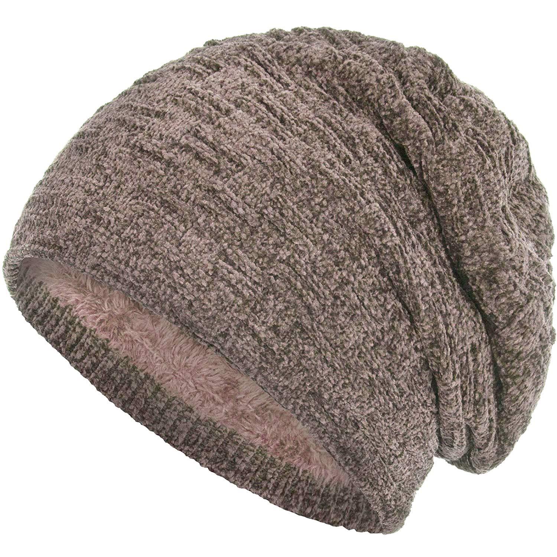 390719f97864cf Crimbo Wintermütze Mütze Strickmütze mit Fleecefutter Teddyfleece  Teddystoffes 100% Polyacryl für Damen und Herren Warm