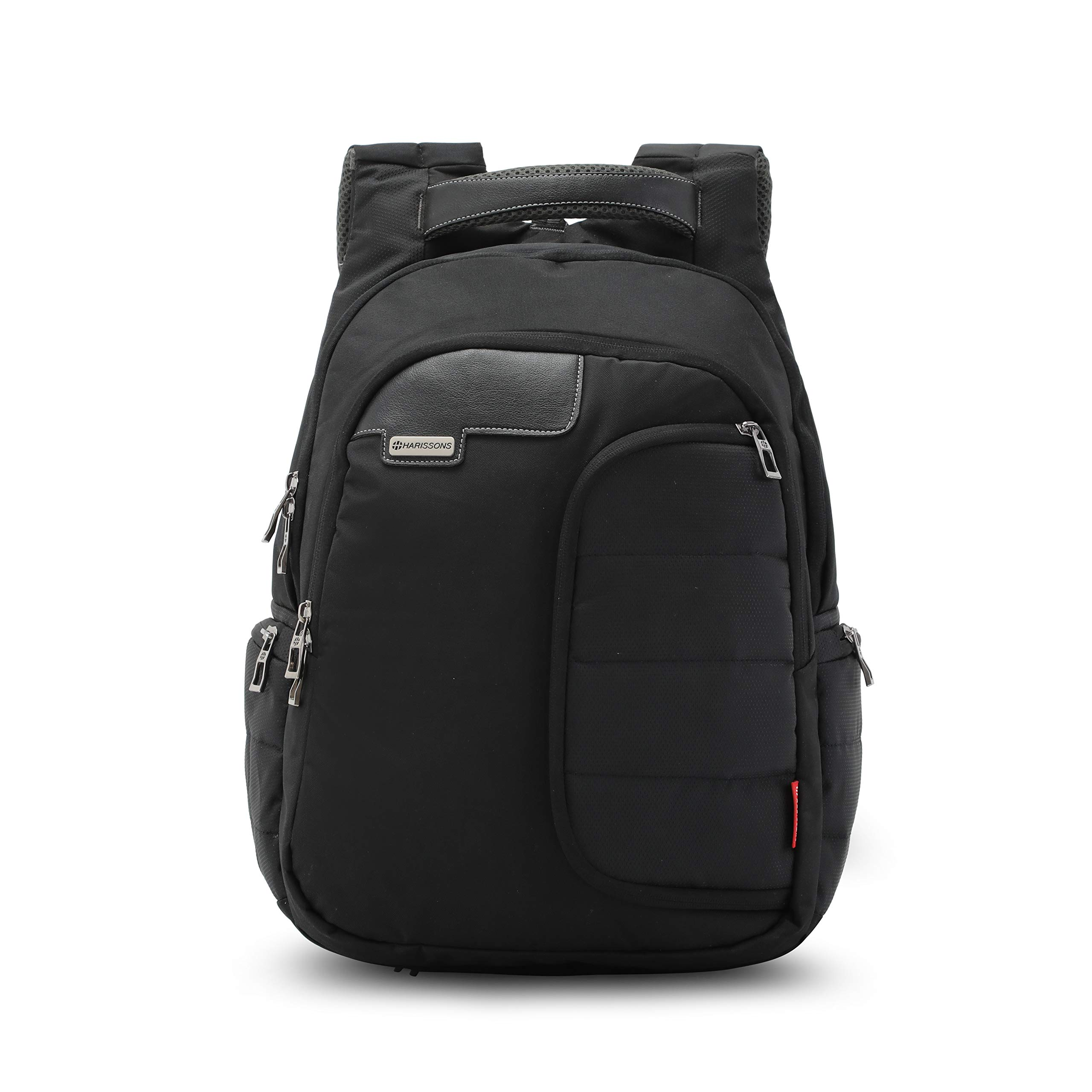 Harissons Vervo Laptop Backpack for Men and Women - Bag with Built-in Waterproof Rain Cover - Fits Laptop Up to 14 Inch (Black) (40 Ltrs) product image